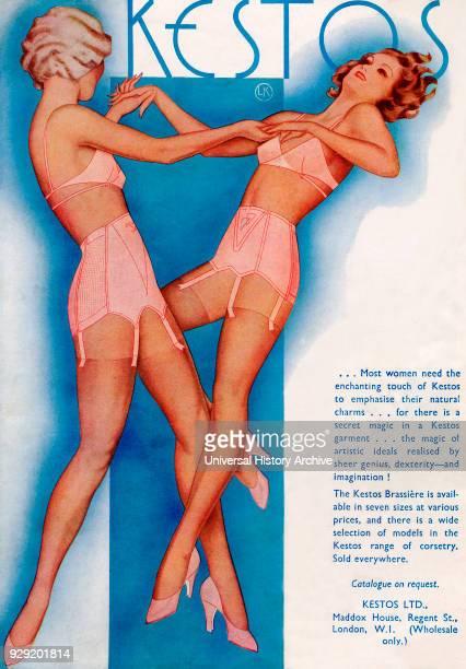 1934 advertisement for Kestos Lingerie