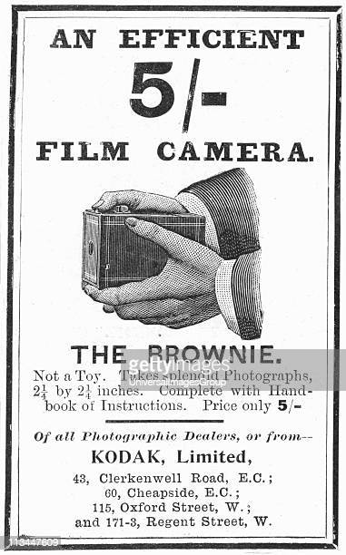 Advertisement for Kodak Brownie camera from The Illustrated London News 4 August 1900 Engraving