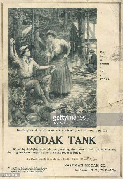 Advertisement for Kodak by the Eastman Kodak Company in Rochester New York 1907 The Kodak Tank camera is advertised