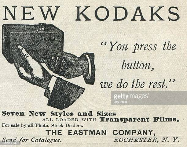 Advertisement for Kodak by the Eastman Kodak Company in Rochester New York 1890