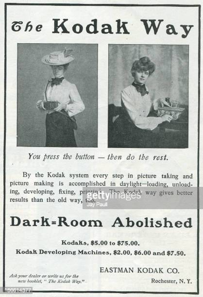 Advertisement for Kodak by the Eastman Kodak Company in Rochester New York 1902 The Kodak Girls are pictured