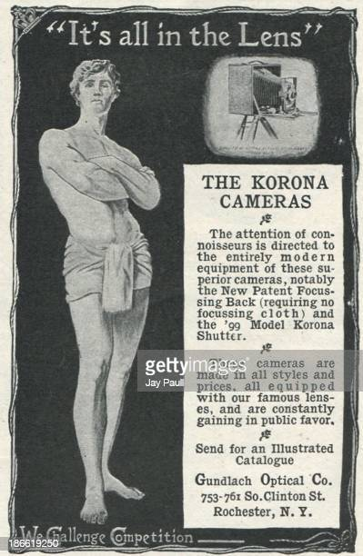 Advertisement for Korona Cameras by the Gundlach Optical Company in Rochester New York 1899