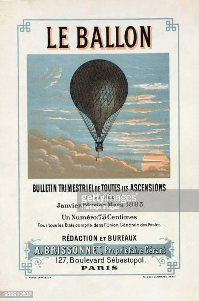 Advertisement for Le Ballon Janvier Fevrier Mars pub 1883 colour lithograph