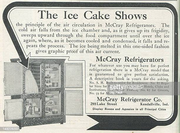 Advertisement for McCray refrigerators 1911