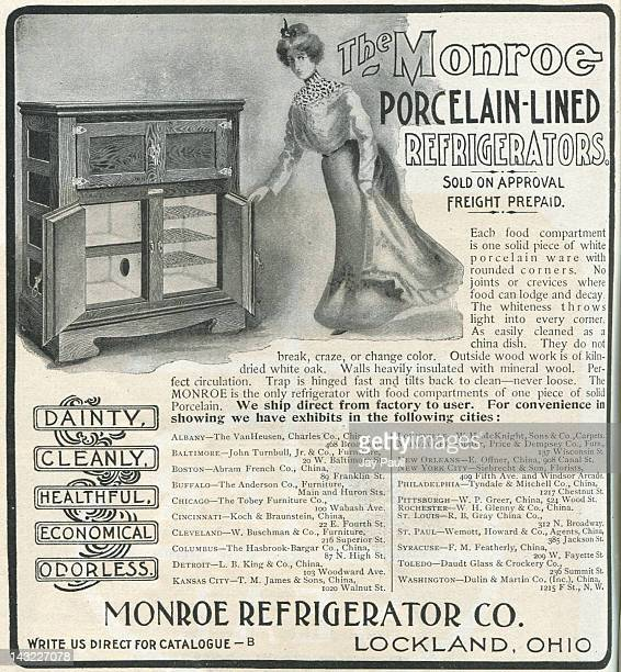 Advertisement for Monroe refrigerator 1901
