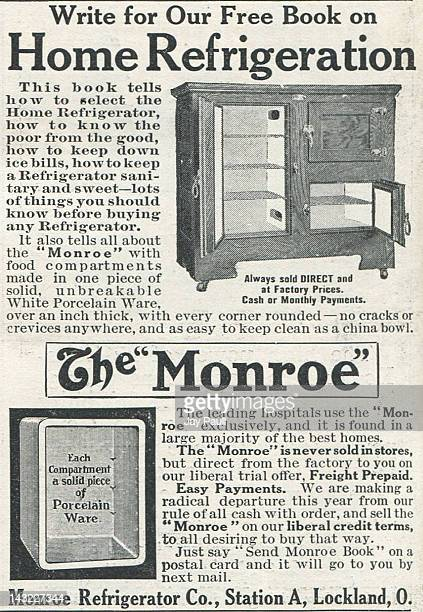 Advertisement for Monroe refrigerator 1911