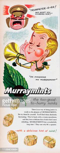 Advertisement for Murraymintsmint sweets with the caption 'the too-good-to-hurry mints'. Original Publication: Picture Post Ad - Vol 66 No 12 P 22 -...