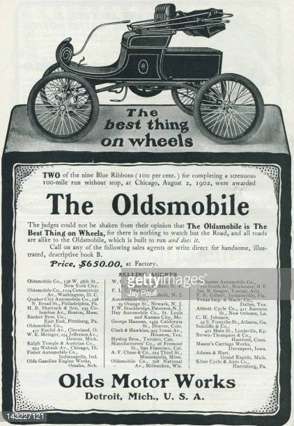 Advertisement for Oldsmobile by Olds Motor Works in Detroit 1902