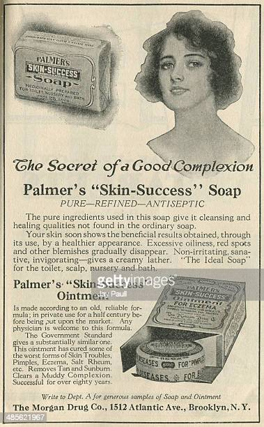 Advertisement for Palmer's skin success soap and ointment to treat eczema by The Morgan Drug Company New York 1921
