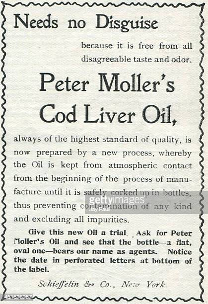 Advertisement for Peter Moller's Cod Liver Oil by Schieffelin and Company 1899