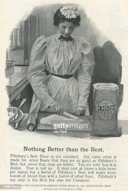 Advertisement for Pillsbury's Best Flour by the PillsburyWashburn Flour Mills Company in Minneapolis Minnesota 1899