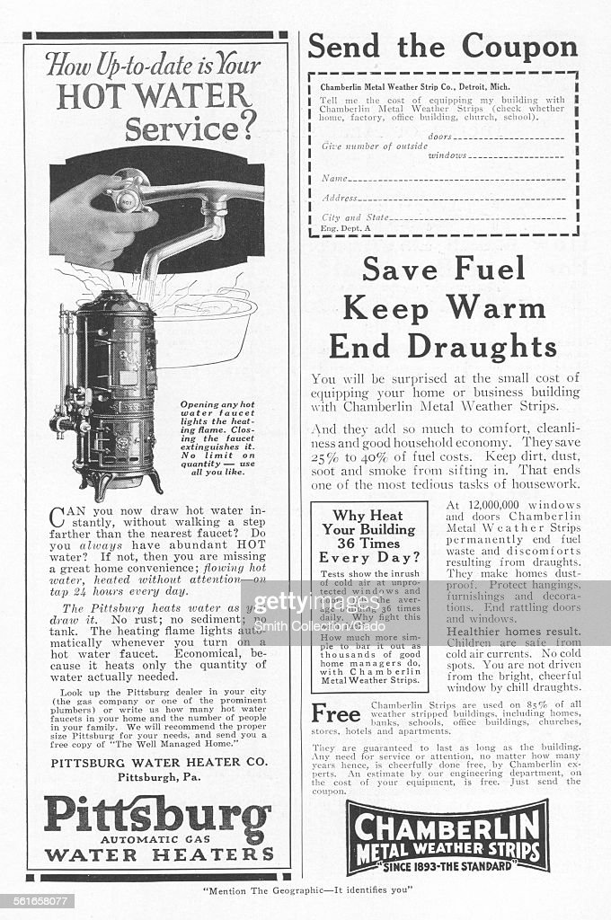 Advertisement for Pittsburgh Automatic Gas Water Heaters and