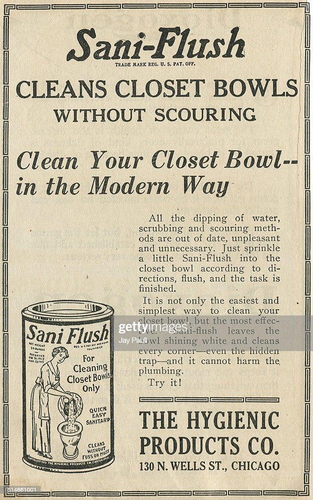 Ad For Sani Flush Toilet Cleaner Pictures | Getty Images