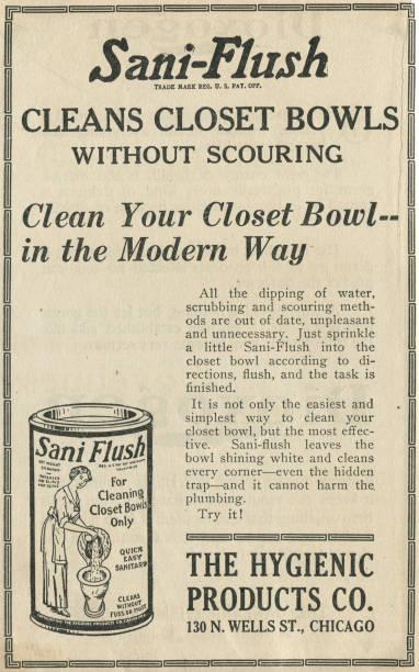 Ad For Sani Flush Toilet Cleaner