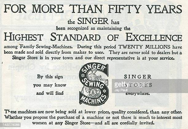 Advertisement for Singer Sewing Machines 1903