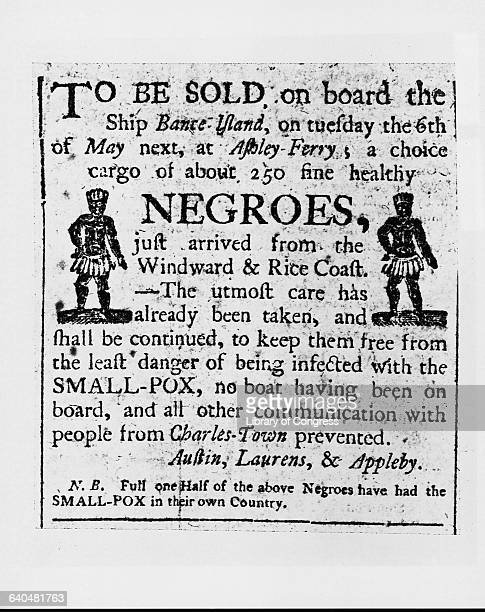 Advertisement for Slaves