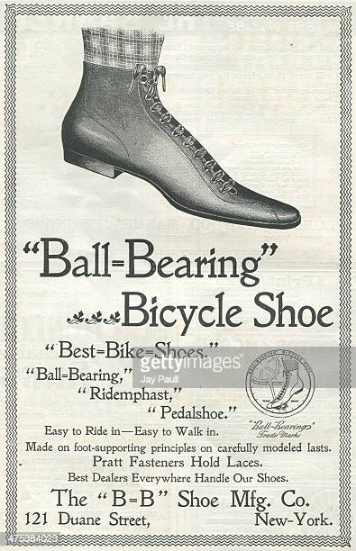 Advertisement for the Ball Bearing bicycle shoe by the BB Shoe Manufacturing Company in New York 1897