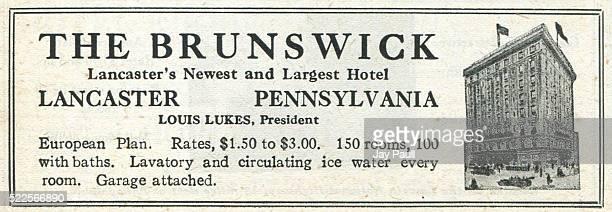 Advertisement for the Brunswick hotel Lancaster Pennsylvania 1919