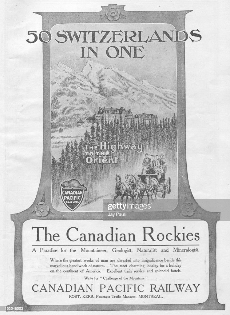 Ad For Canadian Pacific Railway : News Photo