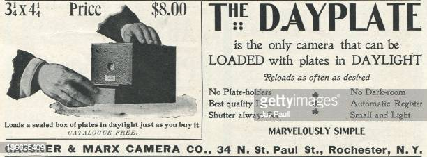 Advertisement for the Dayplate camera by Gassner Marx Camera Company in Rochester New York 1899