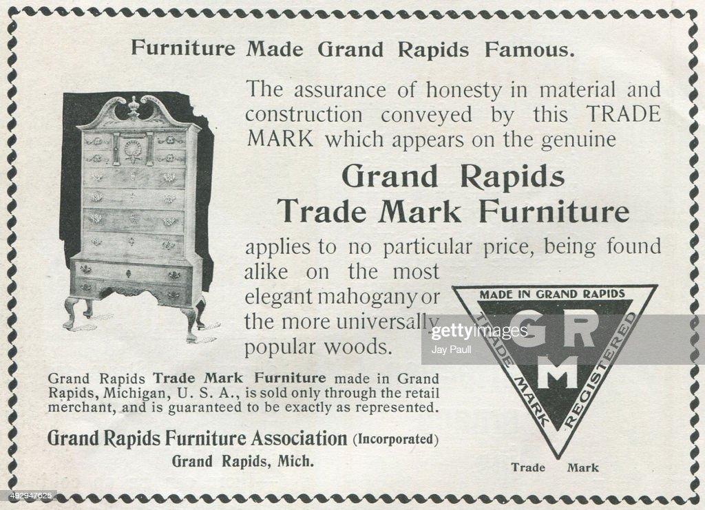 Advertisement For The Grand Rapids Furniture Manufacturers In Grand Rapids,  Michigan, 1900.