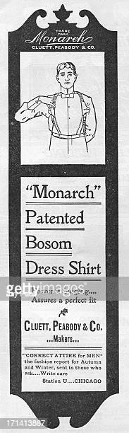 Advertisement for the Monarch bosom dress shirt by Cluett Peabody Company in Troy New York 1899