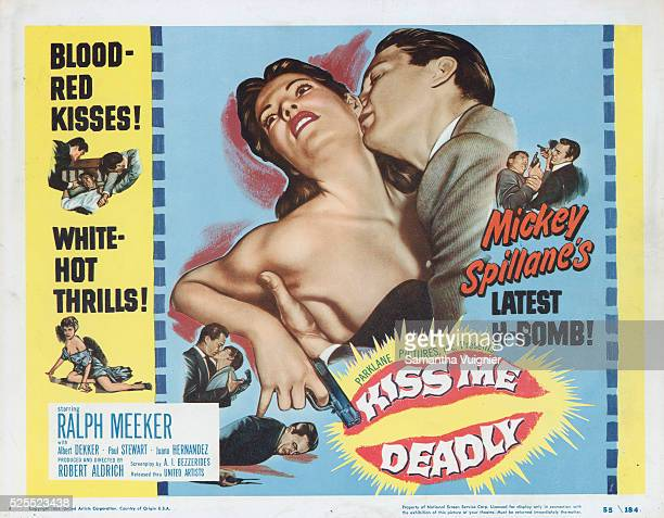 Advertisement for the movie Kiss Me Deadly based on the Mickey Spillane novel