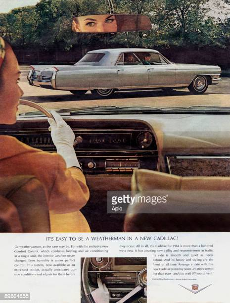 Advertisement for the new Cadillac car 1964