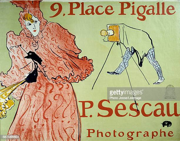 Advertisement for the photographer P Sescau 9 Place Pigalle Montmartre Poster created by Henri de Toulouse Lautrec 1896 Dim 154 x 118 m Musee de la...