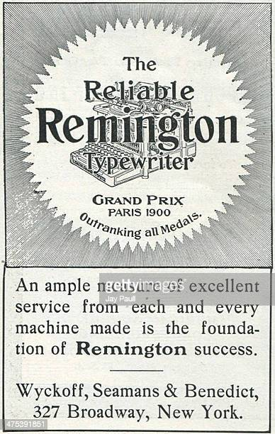 Advertisement for the Remington typewriter by Wyckoff Seamans and Benedict in New York 1901