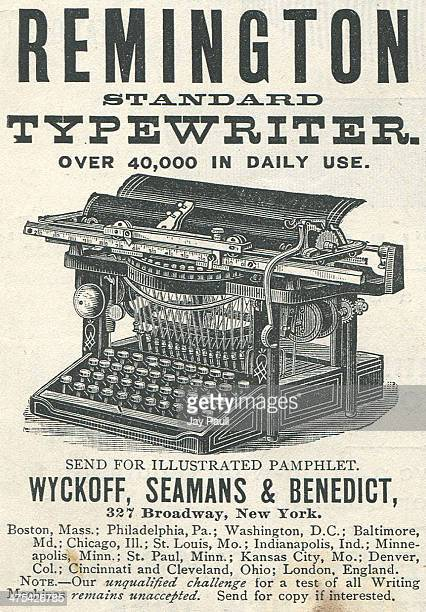 Advertisement for the Remington typewriter by Wyckoff Seamans and Benedict in New York 1888