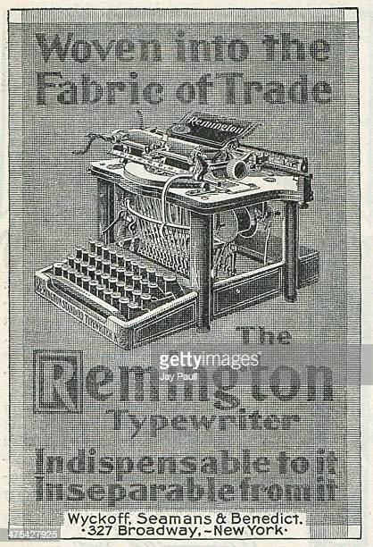 Advertisement for the Remington typewriter by Wyckoff Seamans and Benedict in New York 1899