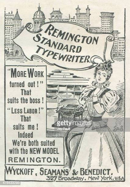Advertisement for the Remington typewriter by Wyckoff Seamans and Benedict in New York 1897