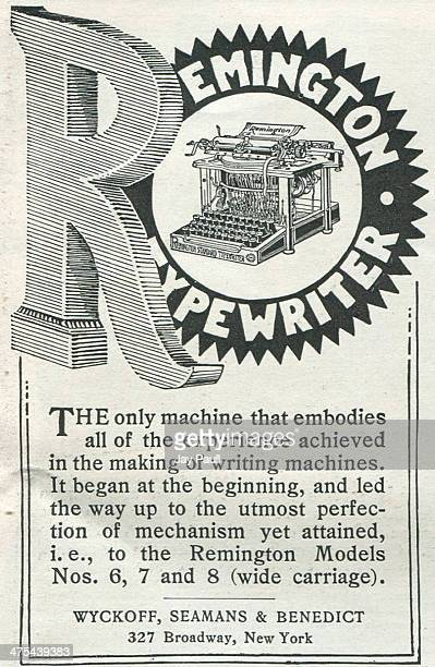 Advertisement for the Remington typewriter by Wyckoff Seamans and Benedict in New York 1898