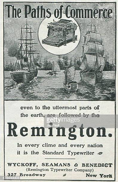 Advertisement for the Remington typewriter by Wyckoff Seamans and Benedict in New York 1902