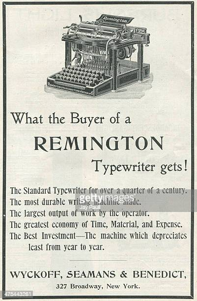 Advertisement for the Remington typewriter by Wyckoff Seamans and Benedict in New York 1900
