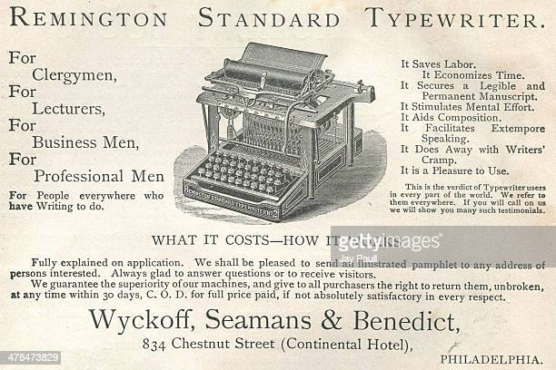 Advertisement for the Remington typewriter by Wyckoff Seamans and Benedict in New York 1891