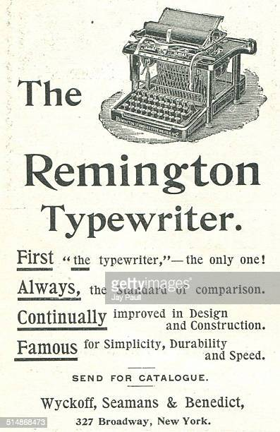 Advertisement for the Remington typewriter by Wyckoff Seamans and Benedict in New York 1893