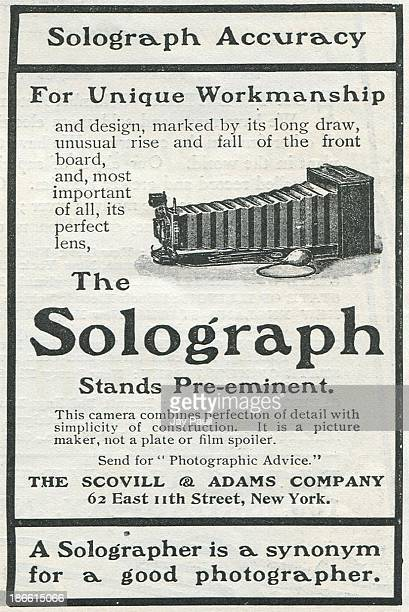 Advertisement for the Solograph camera by The Scovill & Adams Company in New York, 1900.