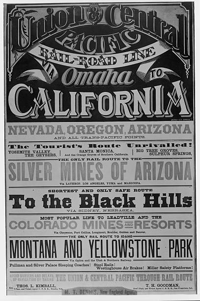 Advertisement for the Union & Central Pacific Through...