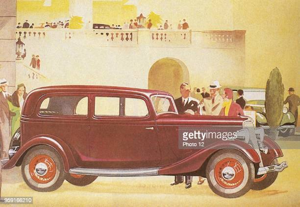 Advertisement for the V 8Salon de Luxe by Ford With this V 8 the american firm Ford has once again built a successful car after the TModell