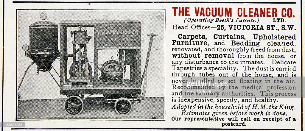 Adver For The Vacuum Cleaner Company 1906 Artist Anon News Photo