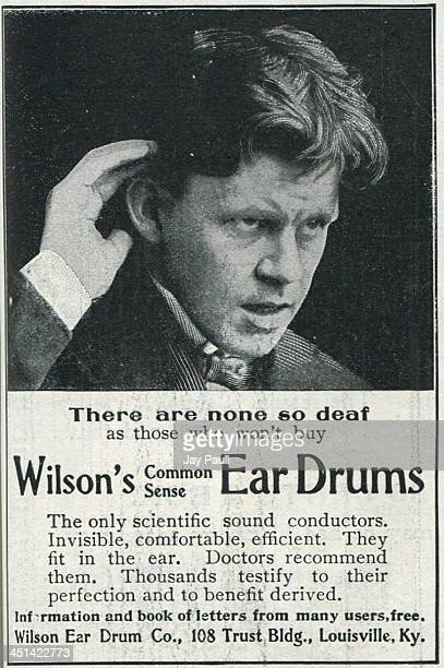 Advertisement for the Wilson ear drum by the Wilson Ear Drum Company 1899