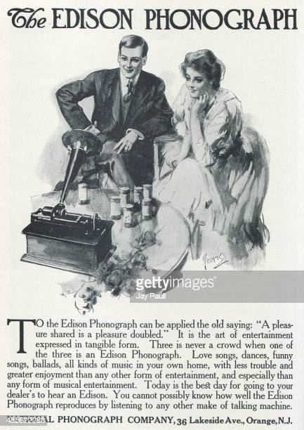 Advertisement for Thomas Edison phonographs by the National Phonograph Company Orange New Jersey 1907