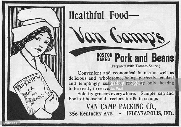 Advertisement for Van Camp's Pork and Beans by the Van Camp Packing Company in Indianapolis Indiana 1899