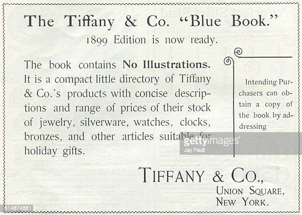 Advertisement for various jewelry and other products by Tiffany & Company in New York, 1898.