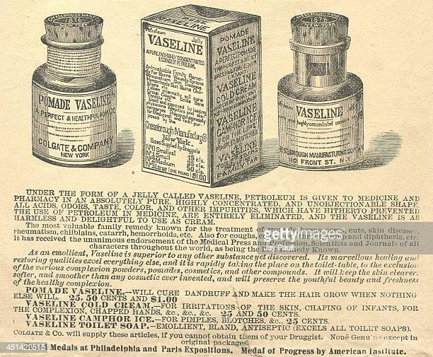 Advertisement for Vaseline petroleum jelly by Colgate and Company Chesebrough Manufacturing Company 1881