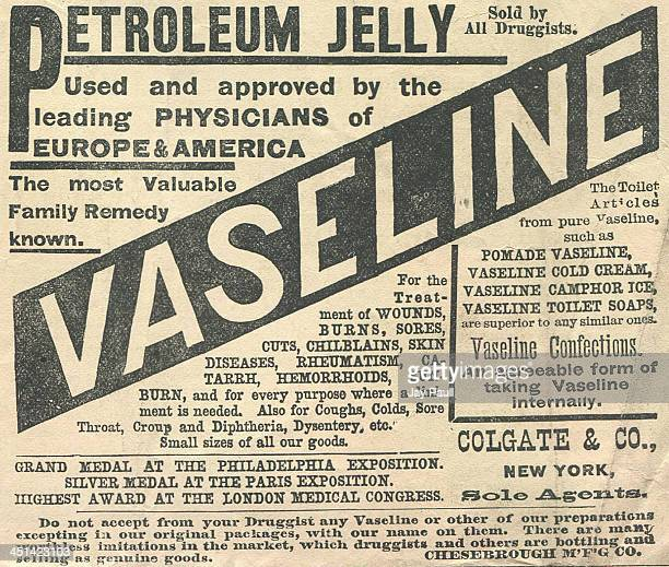 Advertisement for Vaseline petroleum jelly by Colgate and Company, Chesebrough Manufacturing Company , 1881.