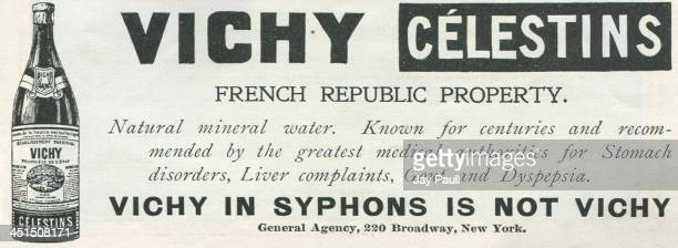 Advertisement for Vichy Celestins French natural mineral water 1898