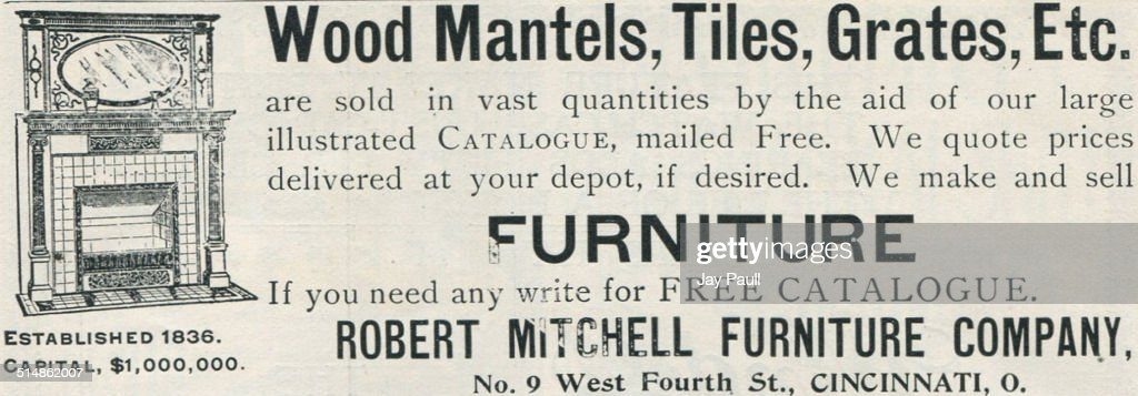 Ad For Robert Mitchell Furniture Co.